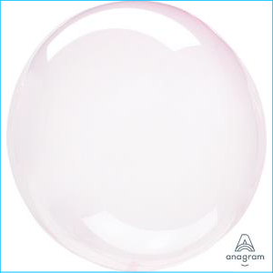 Crystal Clearz Petite Light Pink Balloon
