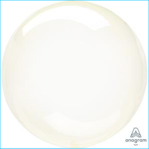 Crystal Clearz Petite Yellow Balloon