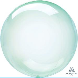 Crystal Clearz Petite Green Balloon