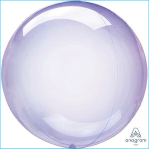 Crystal Clearz Petite Purple Balloon