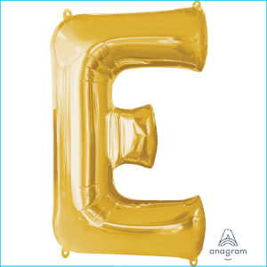 Anagram Letter E Gold Supershape 86cm