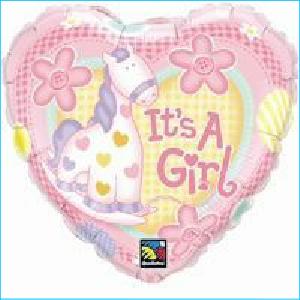 It's a Girl Pony Foil Balloon 46cm