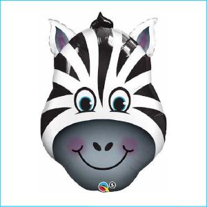 Super Foil Animal Head Zebra 81cm