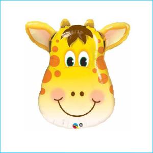 Super Foil Animal Head Giraffe 81cm
