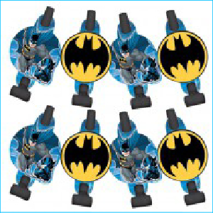 Batman Blowouts with Medallion Pk 8