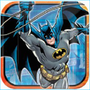 Batman Square Dinner Plates Pk 8