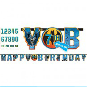 Batman Add An Age Banner Happy Birthday