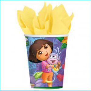 Dora the Explorer Party Cups Pk 8