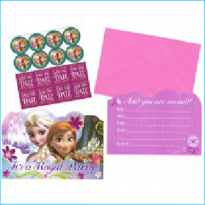 Disney Frozen Party Invitations Pk 8