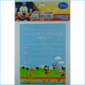 Mickey Mouse Clubhouse Invitations Pk 8
