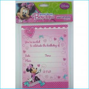 Minnie Mouse Bow-tique Invites Pk 8