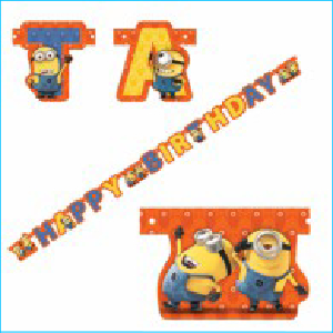 Minions Party Jointed Birthday Banner Pk