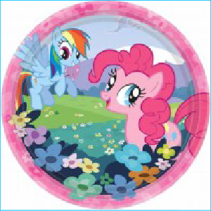 My Little Pony Party Dinner Plates Pk 8
