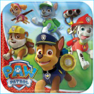 Paw Patrol Party Square Dinner Plates Pk
