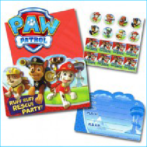 Paw Patrol Party Invitations Pk 8