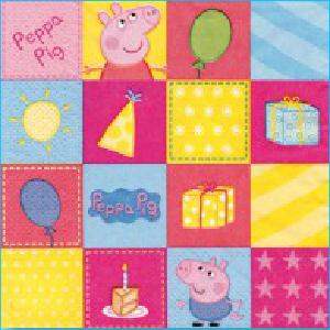 Peppa Pig Party Napkins Pk 16