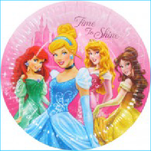 Disney Princess Sparkle Party Plates Pk