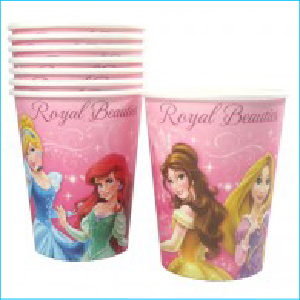 Disney Princess Sparkle Party Cups Pk 8