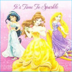 Disney Princess Sparkle Napkins Pk 16