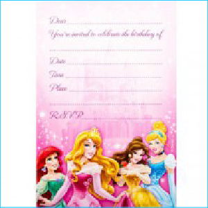 Disney Princess Sparkle Invites Pk 8