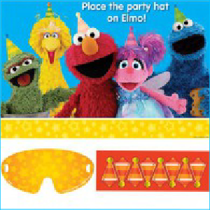 Sesame Street Pin the Nose Party Game