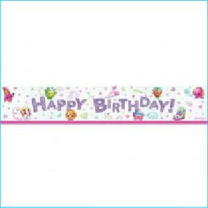 Shopkins Happy Birthday Banner Pk 1