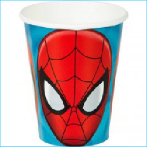 Spiderman Party Cups Pk8