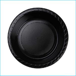Premium Black Plastic Bowls Pk 25