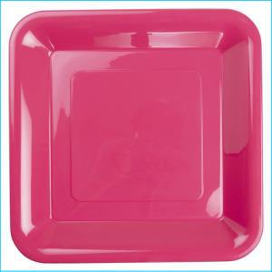Premium Hot Pink Plastic Square Banquet
