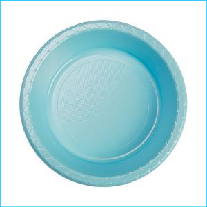 Premium Light Blue Plastic Bowls Pk 25