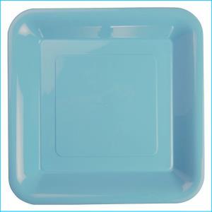 Premium Light Blue Plastic Square Banqu