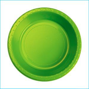Premium Lime Green Plastic Bowls Pk 25