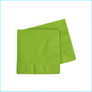 Premium Lime Green Cocktail Napkins Pk 5