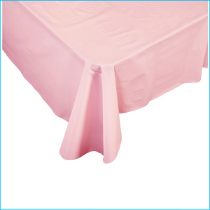Light Pink Rectangle Plastic Tablecover