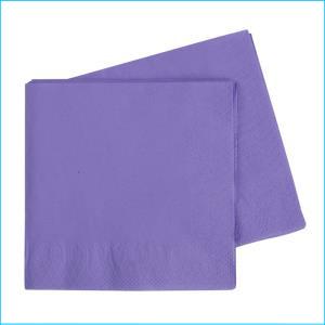 Premium Purple Lunch Napkins Pk 50