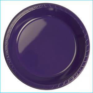 Premium Purple Plastic Banquet Plates Pk