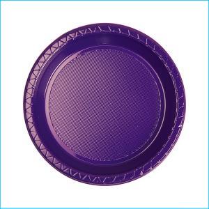 Premium Purple Round Snack Plates Pk 25