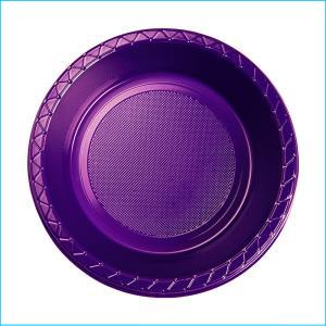 Premium Purple Plastic Bowls Pk 25