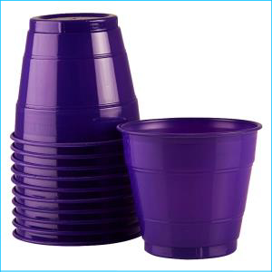 Premium Purple Plastic Cups Pk 25