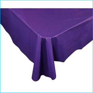 Purple Rectangle Plastic Tablecover 137c