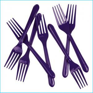 Premium Purple Plastic Forks Pk25