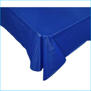 Royal Blue Rectangle Plastic Tablecover