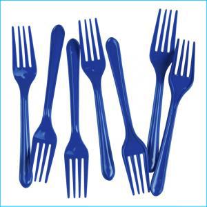 Premium Royal Blue Plastic Forks Pk25