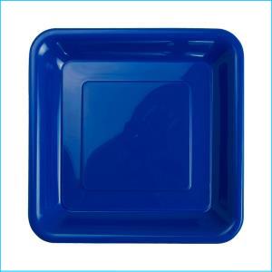 Premium T Blue Square Snack Plates Pk20