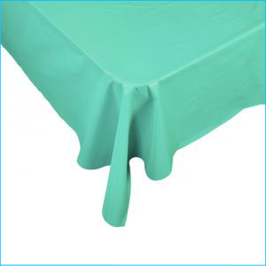 Turquoise Rectangle Plastic Tablecover 1