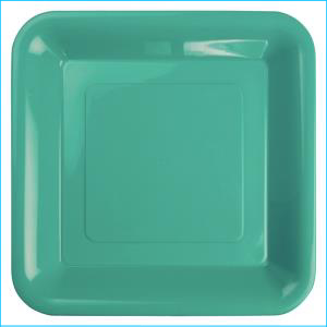 Premium Turquoise Plastic Square Banquet