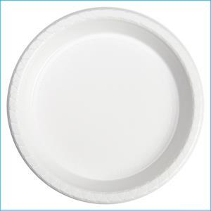 Premium White Plastic Dinner Plates Pk 2