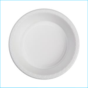 Premium White Plastic Bowls Pk 20