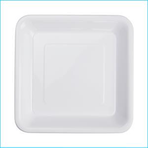 Premium White Square Snack Plates Pk20