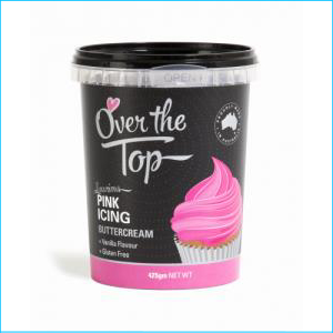 Over the Top Buttercream Pink 425g